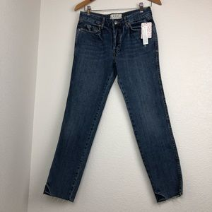 NWT Free People Distressed raw hem skinny jeans
